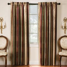Thermatec 2-pack Tuscan Stripe Blackout Window Curtains | Kohls