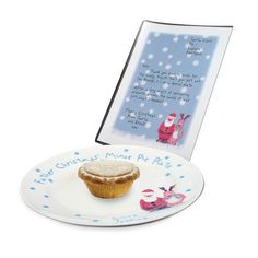 This wonderful Snow Scene Mince Plate is a fantastic way to leave Santa a little treat. Personalise the plate with any name up to 15 characters. The wording 'Father Christmas' Mince Pie Plate' and 'Love' is standard text. Personalized Letters From Santa, Personalized Gifts For Kids, Christmas World, Santa Christmas, Father Christmas, Christmas Favors, Christmas Ideas, Mince Pies, Santa Letter