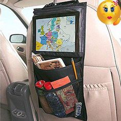 #accessories Descriptions: High Quality Car Seat Ipad Hanging Bag Holder Car Accessories Outdoor Nylon PVC Food Toy #Storage Bag Hook Retail Lots Wholesale Size:...