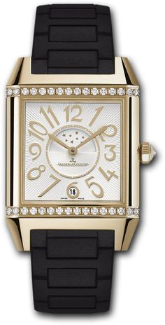 Jaeger LeCoultre Watch Reverso Squadra Lady Duetto #bezel-diamond…