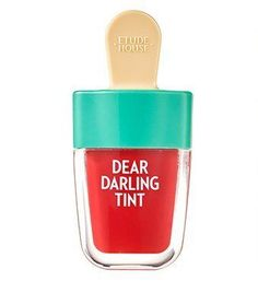 [Etude House] Dear Darling Water Gel Tint /Ice Cream-Summer Edition Watermelon Red) -- You can get additional details at the image link. (This is an affiliate link) Korean Makeup, Korean Skincare, Korean Beauty, Korean Lipstick, Facial Cleanser, Moisturizer, Dear Darling Tint, Ice Cream Packaging, Skin Care Routine Steps
