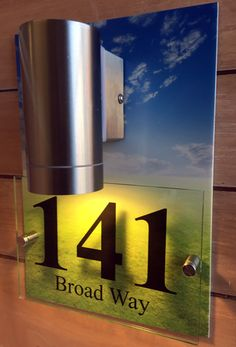 246aa531dbaa The Domonic - Combi Acrylic Plaque and Wall Light House Number Plaque, House  Numbers,