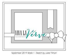 Viva la Verve Sketches: Viva la Verve September 2014 Week 1 {Sketch + Color} End of September
