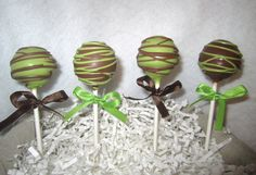 Cake Pops baby shower cake pops green and by ViktoriasSweetBoutiq, $20.00