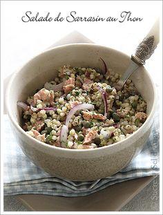 Salade de sarrasin décortiqué au thon.