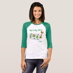My Lucky Las Vegas 3/4 Sleeve Raglan T-Shirt  $26.95  by vegasdusoleil  - cyo customize personalize diy idea