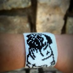 Liz Wilson added a photo of their purchase Bead Loom Patterns, Beading Patterns, Pug, Pattern Design, My Design, Peyote Stitch, Heart Art, Color Change, Seed Beads