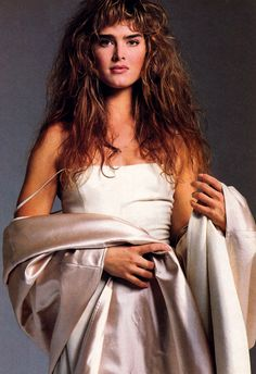 Brooke Shields photographed by Marco Glaviano for Harper's Bazaar, September 1988. Clothing by Michael Kors.
