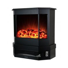 Freestanding Portable Electric Fireplace Heater Stove Burning Flame Effect Home #GoldenVantage