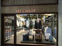 A fine tailor shop in Bangkok at The Four Seasons Hotel.