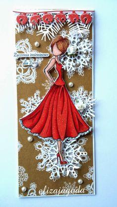 Galeria Papieru: Lalka Prima - Doll Stamp 3