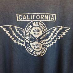 Johnson Motors Inc Men's Hot Rod Motorcycle California T Shirt Size Medium USA   eBay