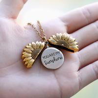 Locket Necklace, Pendant Necklace, Necklaces, Boho Jewelry, Jewelry Gifts, Sunflower Necklace, Handbag Organization, Handbag Organizer, You Are My Sunshine