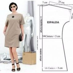ideas for womens clothing fashion sewing patterns Dress Sewing Patterns, Sewing Patterns Free, Free Sewing, Sewing Tutorials, Clothing Patterns, Sewing Projects, Sewing Ideas, Diy Projects, Skirt Patterns