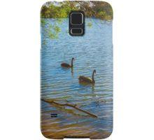 Cygnets turn to Black Swans at Lake Weeroona Bendigo Samsung Galaxy Case/Skin