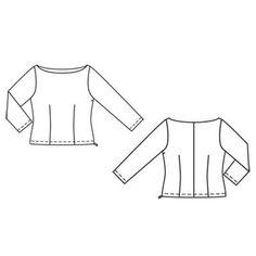 Пуловер - выкройка № 122 из журнала 6/2011 Burda – выкройки пуловеров на Burdastyle.ru