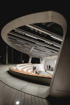 Amphitheater Architecture, Playground Design, Warsaw, Canopy, New Experience, Architecture Design, Gallery, Building, Modern