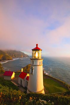 The Heceta Head Lighthouse and Light Keeper's house were built in 1894, and are listed on the National Register of Historic Places.
