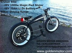 Cruiser bike with magic pie motor,electric power ,green,enjoy smooth journey