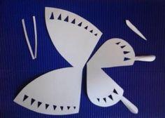 Molde para hacer una mariposa de papel ~ cositasconmesh