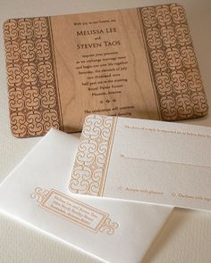 wood - laser invitation cool