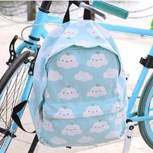 Japanese cute clouds students backpack sold by Cute Kawaii {harajuku fashion}. Shop more products from Cute Kawaii {harajuku fashion} on Storenvy, the home of independent small businesses all over the world. Harajuku Fashion, Kawaii Fashion, Cute Fashion, Mochila Kanken, Mini Mochila, Kawaii Bags, Kawaii Clothes, Kawaii Accessories, Cute School Supplies