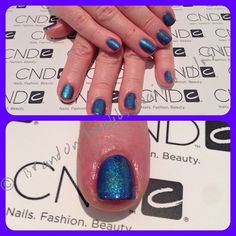 CND Shellac in Purple Purple. And Desert Chameleon and Midnight Tide CND Additives #brandonwebb love me some blue nails