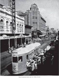 Tramway Brisbane Australia in the Brisbane Queensland, Brisbane Australia, Brisbane Gold Coast, Sunshine State, Tasmania, Old Photos, The Past, Street View, Ancestry