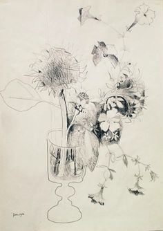 beautiful sparse drawing by Mary Fedden