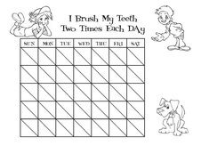 Coloring pages of teeth brushing charts ~ Teeth Brushing Chart, Fun for kids! The Tooth Fairy Club ...