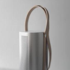 "by Yeongkyu Yoo Object Type 01 l wireless speaker 2014"" Beauty—Cooper Hewitt Design Triennial"" Unibody AL with handcrafted leather Strap"