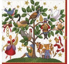 SERVILLETAS GRANDES DE PAPEL MOD. 12 DAYS OF CHRITSMAS