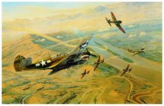 Fighting Tigers, by Robert Taylor (P-40N Warhawk)
