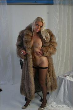 Hooded womens coats fur vintage
