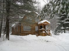 Log Cabins, From Modest to Massive Cabins For Sale, Cabins And Cottages, Log Cabins, Snow Cabin, Cedar Roof, Exposed Beams, Log Homes, The Great Outdoors, Wonders Of The World
