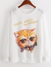 2016 New spring Hoody women Casual hoodies cat kiss fish print tracksuit long sleeve o neck letters sweatshirt for women Top Sweatshirts Online, Printed Sweatshirts, Hoodies, Hooded Sweatshirts, Cute Jumpers, Cute Squirrel, Streetwear Fashion, Casual, Fish Print