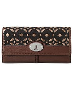 Fossil Handbag, Maddox Signature Flap Clutch