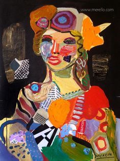 """BEAUTY.  Jose Manuel Merello.- """"Andalusian girl."""" (73 x 54 cm)  Contemporary art. Spanish art. Painters. Current art 21st century. Modern painting. Paintings of contemporary artists. Art, Luxury and Passion. Color and Decoration in the Modern Art. Investment. http://www.merello.com"""