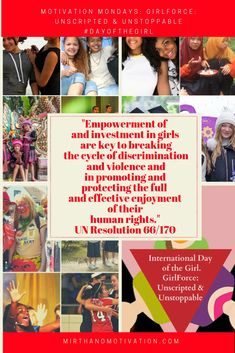 Motivation Mondays:- GirlForce: Unscripted & Unstoppable #dayofthegirl | Mirth and Motivation Yoga Quotes, Motivational Quotes, Inspirational Quotes, Motivational Articles, Bucket List Quotes, How To Stop Procrastinating, International Day, Monday Motivation