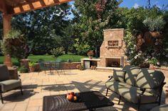 Fireplaces, patios, outdoor living, backyard