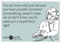 and you lie to convince others of your delusions. Bitch Quotes, Me Quotes, Funny Quotes, You Stupid, Stupid People, Nosey People Quotes, E Cards, Someecards, Swan