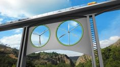 Are bridge-mounted wind turbines a viable option? By Scott Collie - 7/6/15 An artist's take on how wind turbines underneath bridges might look