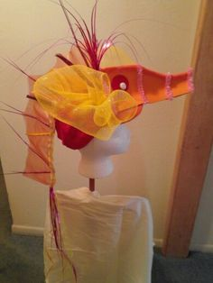 Sea horse headpiece using baseball cap as a base Seahorse Costume, Dolphin Costume, Fish Costume, The Little Mermaid Musical, Little Mermaid Costumes, High School Musical Costumes, Under The Sea Costumes, Theatre Props, Theater