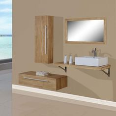 meuble de salle de bain couleur bois dis9250sc meuble de.html