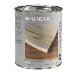 IKEA - BEHANDLA, Træolie til indendørsbrug, Beskytter træet på overfladen og i dybden og gi'r det et flot skær.