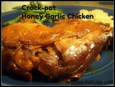 Crock-pot Honey Garlic Chicken 1 of 40 meals prepped in 4 hours - it's so yummy!
