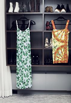 """These dresses are both vintage Dolce & Gabbana. They were my mother's."" http://www.thecoveteur.com/julie-heller-eraluxe/"