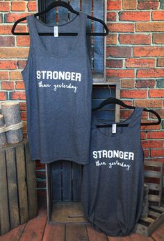 stronger than yesterday tank. Jane Clothing, Boutique Clothing, Stronger Than Yesterday, Athletic Tank Tops, Clothes, Women, Fashion, Outfits, Moda