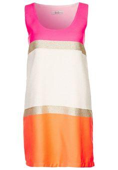 Ella Luna - EL-Juicy-25 - Cocktailkleid / festliches Kleid - neon/gold/weiß