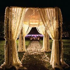 Wedding at night. That would be so amazing.